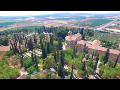 """My Israel"" project 4K - Latrun Monastery and Ayalon Valley"