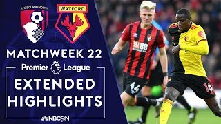 Bournemouth v. Watford | PREMIER LEAGUE HIGHLIGHTS | 1/12/2020 | NBC Sports