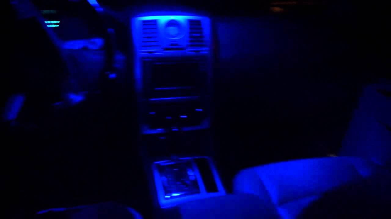 blue led interior light chrysler c