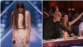 OMG!_SHY_Girl_Turns_Into_A_Singing_Lion___Gets_GOLDEN_BUZZER. America's Got Talent Must Watch This