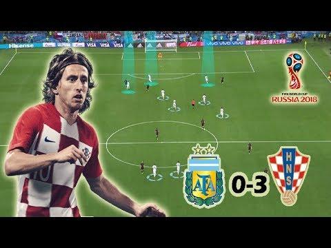 How Croatia destroyed Sampaoli's Tactics | Argentina vs Croatia 0-3 | Tactical Analysis | World Cup thumbnail