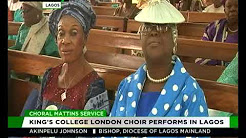 King's College London Choir performs in Lagos