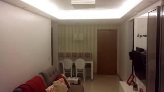 Sala de Estar Sala de Jantar Varanda Iluminação Fita de Led Spot de Led Paflon Sanca Papel de Parede