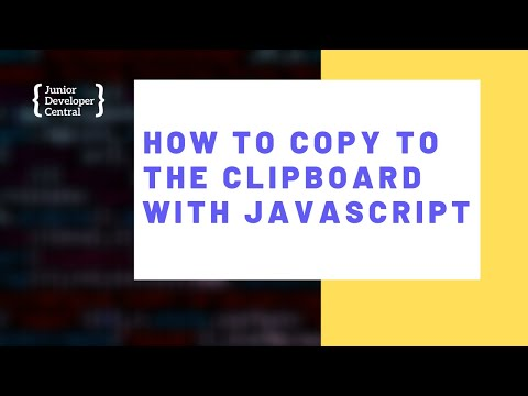 How To Copy To The Clipboard With JavaScript thumbnail
