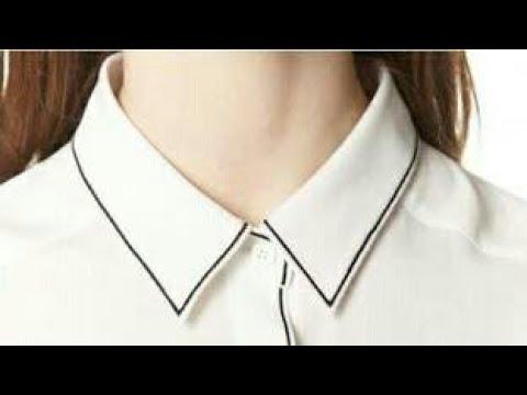 Shirt collar neck cutting and stitching - YouTube a0e68b939