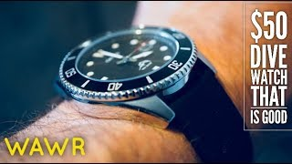 This Dive Watch is $50 and it is AWESOME! Casio Dive Watch MDV106-1A #casio #watchreview