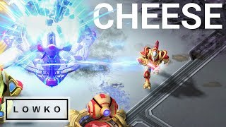 StarCraft 2: ZERG CHEESE vs PROTOSS CHEESE!