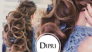 Прическа на длинные густые волосы без накрутки | Ольга Дипри | Видео уроки | Hair tutorials