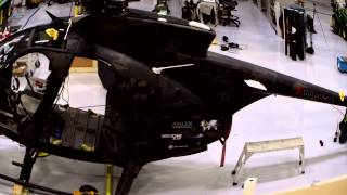 Multicam Black Vinyl Wrap On The Dillon Aero Little Bird