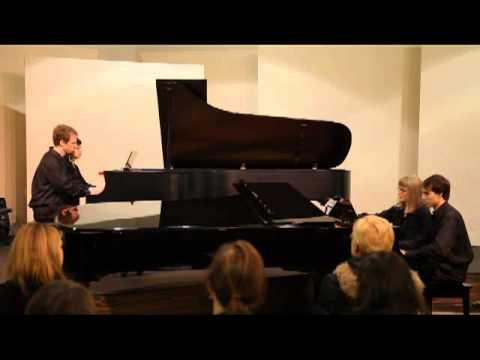 8 Hands Piano playing Mozart