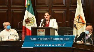 """""""Los traidores a la patria deberían ser fusilados por envenenar a los niños y jóvenes"""", aseveró la alcaldesa Célida Teresa López Cárdenas"""