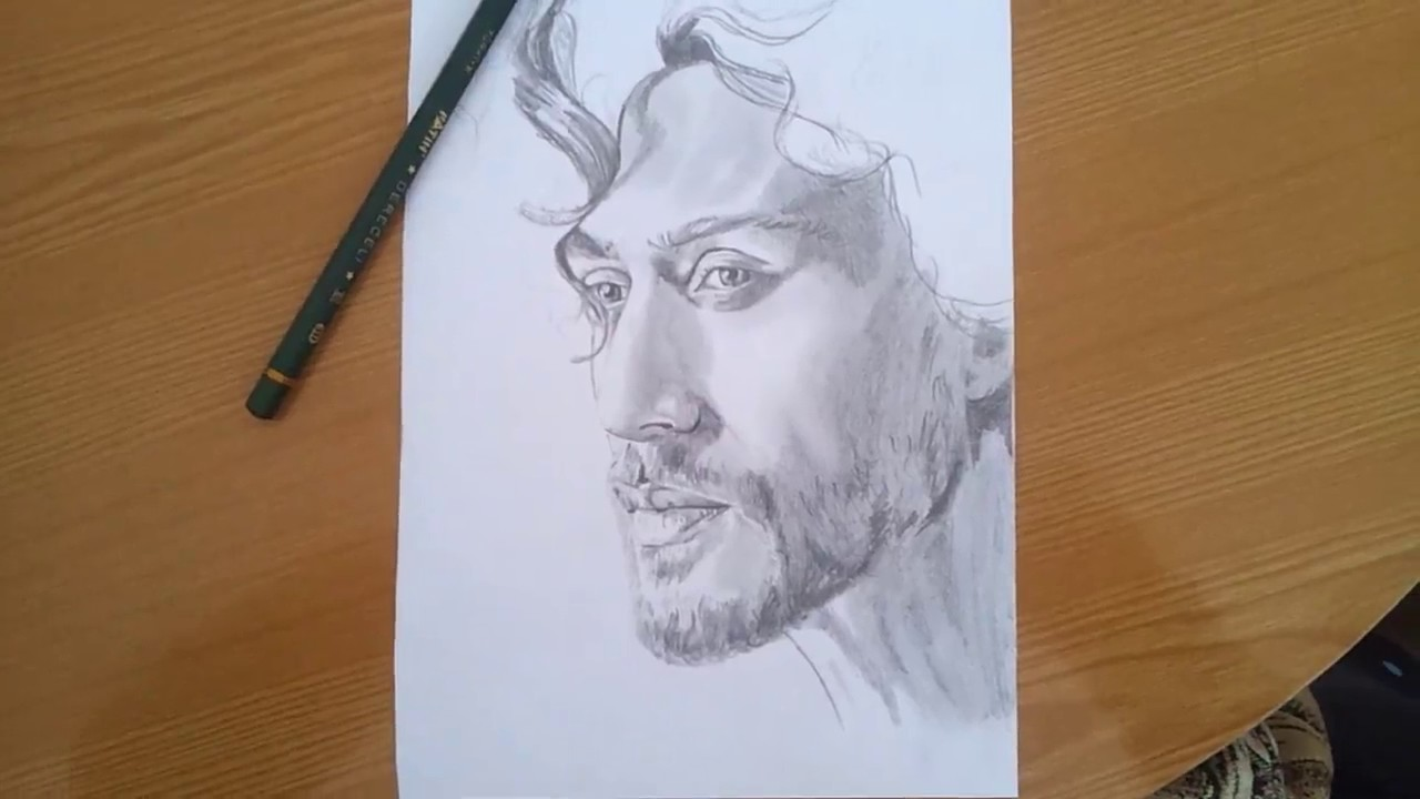 Awesome handmade sketch of tiger shroff pencil art drawing love tiger shroff