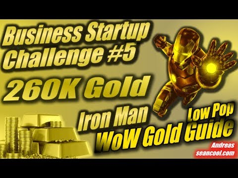 260K Gold in der Iron Man WoW Gold Business Startup Challenge #5 | WoW Gold Guide| Low Pop