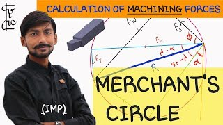 [HINDI] MERCHANT CIRCLE ~ CALCULATION OF MACHINING FORCES / CUTTING FORCES ~ WITH EXAMPLE