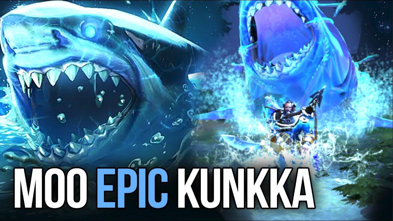 moo with new kunkka prestige item set epic shark dota 2 7 06
