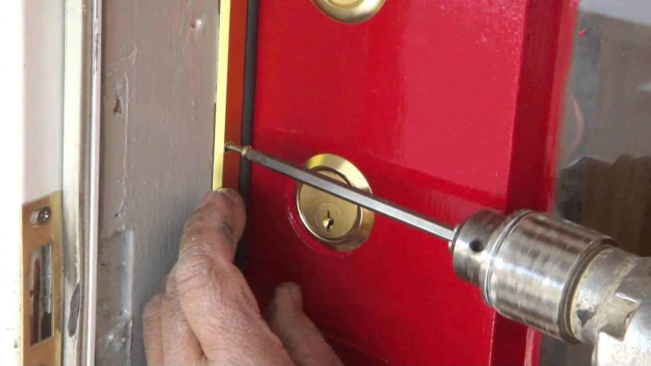 How to install weather stripping with a old door youtube for Front door insulation