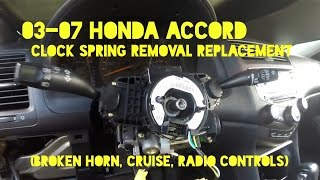How to Replace Clock Spring / Cable Reel on 2003-2007 Honda Accord