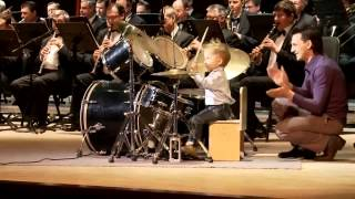 awesome 3 year child prodigy plays drums like a pro