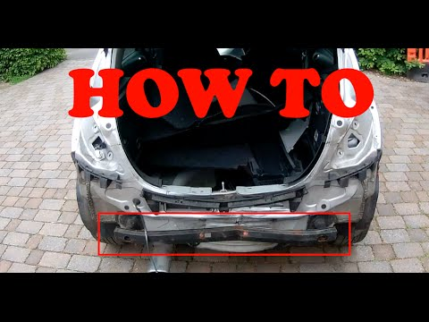 How To Remove Rear Crash Reinforcement Bar Vauxhall Corsa