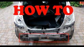 How To Remove Rear Crash Reinforcement Bar Vauxhall Corsa D