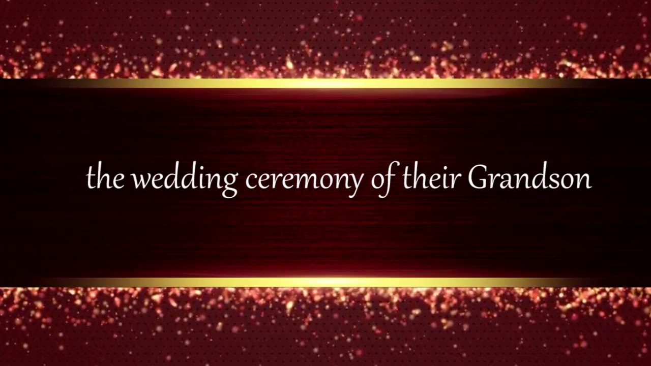 Wedding Invitation in English - YouTube