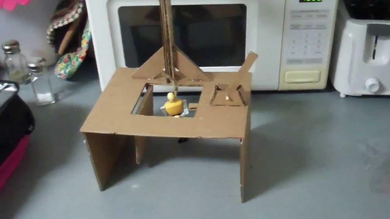 Proof Of Concept Miniature Working Gallows Trap Door