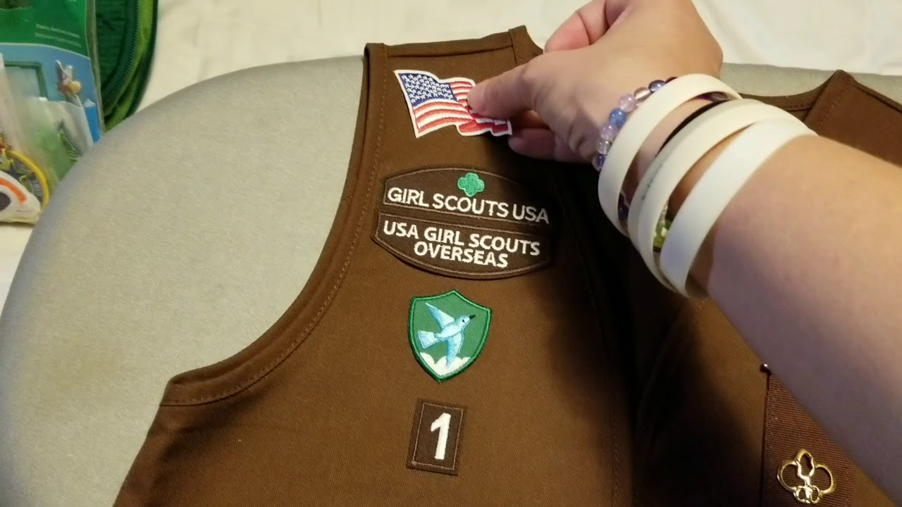 Girl Scout Brownie Vest Part 2 Setting Up A New Brownies Vest