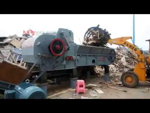 JLXP1300P wood pallet crusher process waste construction ...