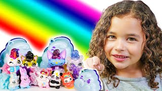 Finding Cloudees at the End of the Rainbow With Fluffy Mystery Slime Surprise!
