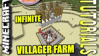Minecraft PS4 - INFINITE VILLAGER FARM - How To - Tutorial ( PS3 / XBOX ) WII
