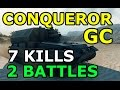 World of Tanks - Conqueror Gun Carriage - 7 kills - 2 battles pack