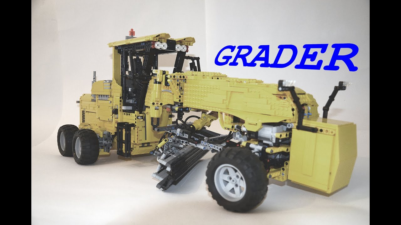 lego technic grader youtube. Black Bedroom Furniture Sets. Home Design Ideas
