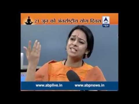 acharya pratishtha at abp news on surya namaskar debate