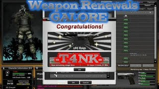 Combat Arms: Using 50 Weapon Renewals & Buying GP Perms! | -T4NK-