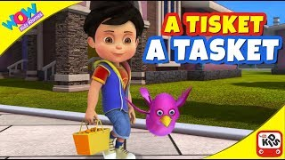 A Tisket A Tasket | Popular Nursery Rhymes | Vir  | Wow Kidz Rhymes