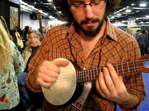 Namm James Hill plays a new Fluke Banjo Uke musicg...