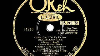 1929 HITS ARCHIVE: Black And Blue - Louis Armstrong