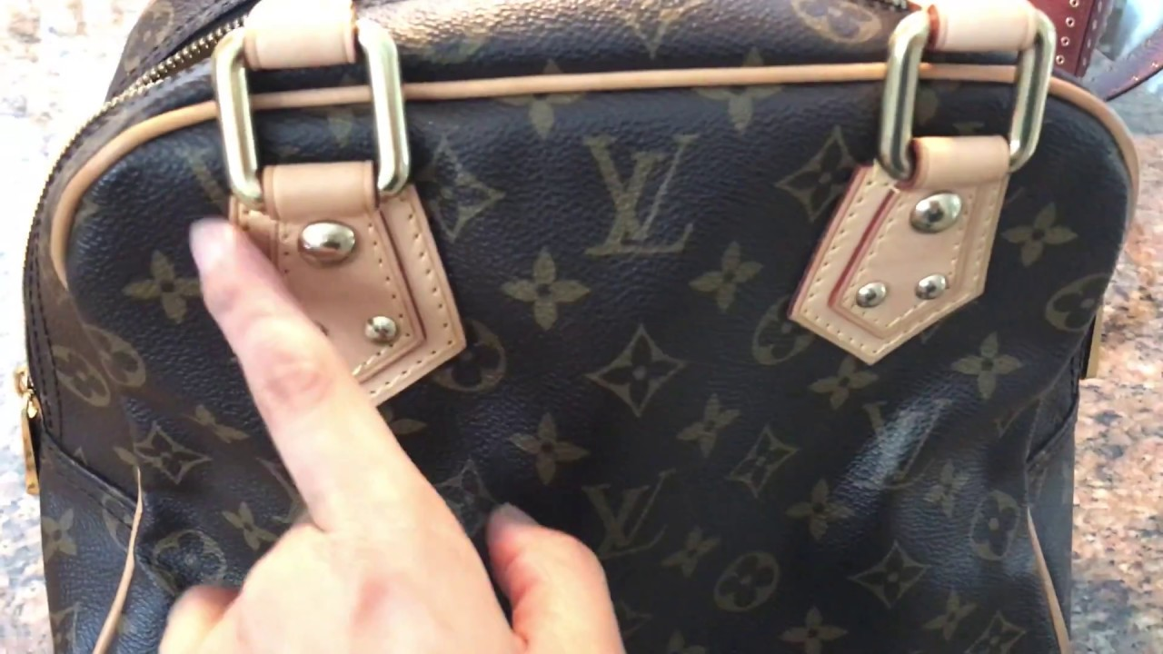 Review   How to Spot Authentic Louis Vuitton Manhattan PM Bag   Where to  Find Date Code 0802ee3ca169b