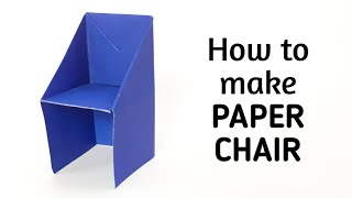 How To Make An Origami Paper Chair | Origami / Paper Folding Craft, Videos And Tutorials.