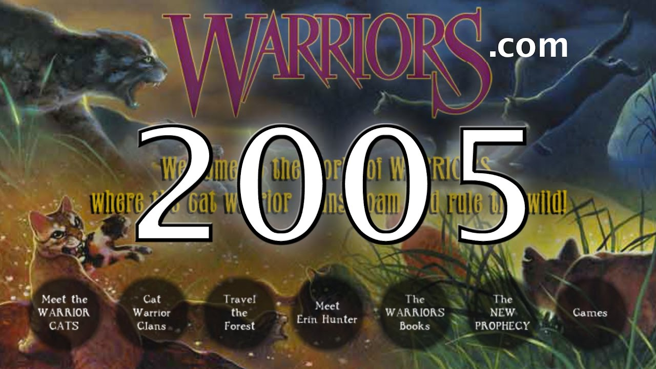 exploring the official warrior cats website from 2005 youtube