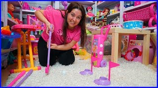 KAYBETTİĞİM OYUNCAK BARBİE GOLF TAKIMIMI BULDUM l Toy Barbie Golf Set For Kids