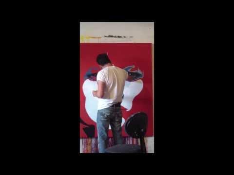 Kate Moss Painting | Artist Jeremy Penn