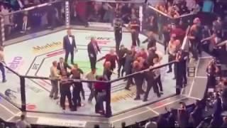 RING CHAOS! Conor McGregor vs Khabib Post Fight Brawl #UFC229