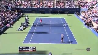 Andy Murray vs Wawrinka US Open 2013 Quarter  Finals 2  Set Highlights