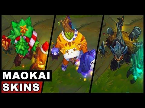 All Maokai Skins Spotlight (League of Legends)