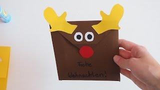 Gambar cover Weihnachtsumschlag basteln- Basteln mit der Bastelfee