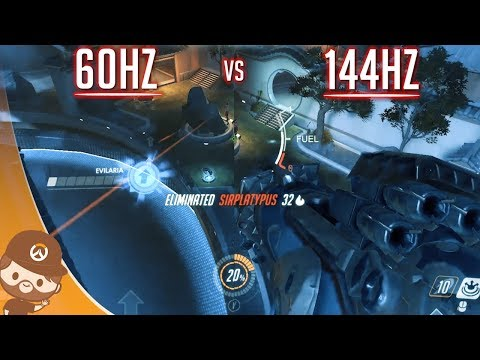 144hz vs 60hz sur Overwatch - Slow motion & Avis