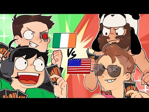 TEAM IRELAND vs TEAM AMERICA! - UNO Teams (Funny Moments)