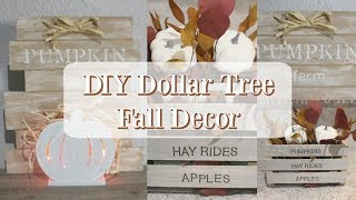 DIY DOLLAR TREE FALL DECOR | FARMHOUSE DECOR