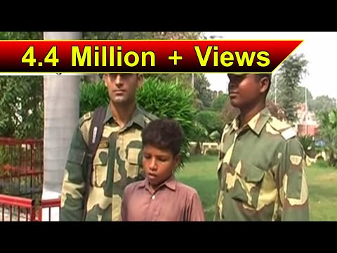 PAKISTANI BOY TANVEER AHMED STRAYS ACROSS BORDER; RETURNED BY BSF